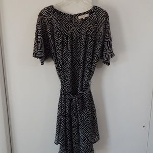 NEW black ANN TAYLOR LOFT dress short sleeve L